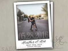 Wedding Save the Dates Photo DATE Magnets by SAEdesignstudio