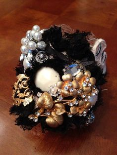 Vintage Inspired Cuff Bracelet by cosmiksouls on Etsy, $275.00