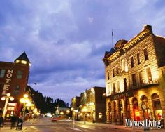 An old mining town in the Black Hills, the entire town of Deadwood is a national historic landmark. Bring your money. you can GAMBLE! South Dakota Vacation, South Dakota Travel, Vacation Trips, Vacation Spots, Vacation Ideas, Vacations, Deadwood South Dakota, Places To Travel, Places To Go
