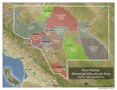 Understanding Paso Robles Wine (with maps) Varieties & Styles~ 5 categories