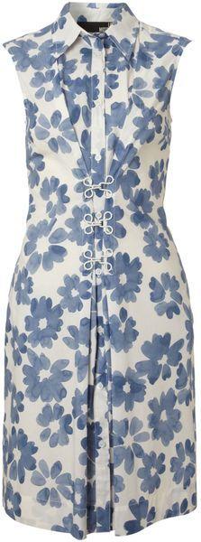 Love Moschino Blue Floral Shirt Dress
