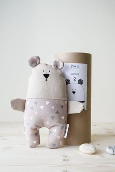 Items similar to Beige triangles Bear, Stuffed brown Teddy Bear baby t… Scandinavian Toys, Scandinavian Style, Toddler Gifts, Gifts For Kids, Brown Teddy Bear, Ideal Toys, Teddy Bear Toys, Handmade Toys, Handmade Baby Gifts