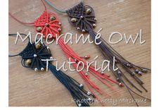 Check out our macrame owl selection for the very best in unique or custom, handmade pieces from our wall hangings shops. Owl Necklace, Macrame Necklace, Macrame Jewelry, Macrame Owl, Macrame Knots, Diy Macrame, Paracord Weaves, Micro Macrame Tutorial, Micro Macramé