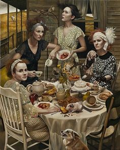 andrea kowch richard demato fine arts gallery painting paintings women rural narrative symbolism ame