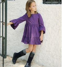 Vestido ciruela de Nueces Kids | Aiana Larocca