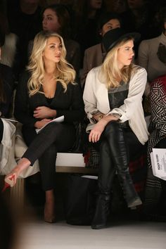 Stassi Schroeder and Jillian Tapper Photos - Ready To Fish - Front Row - Mercedes-Benz Fashion Week Fall 2015 - Zimbio