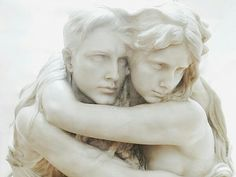 They were commemorated in a statue but theirs was different to others. It conveyed more of them than normal statues would have. It was them, clinging tightly to each other.