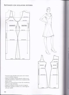 Petticoat with round neckline - Abiti estivi Mccalls Patterns, Sewing Patterns, Clothing Patterns, Dress Patterns, Modelista, Pattern Drafting, Pattern Books, Sewing Techniques, Dressmaking