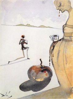 Chocolate, 1930 by Salvador Dali, Surrealism Period Surrealism. Salvador Dali Gemälde, Salvador Dali Paintings, Les Religions, Surrealism Painting, Spanish Artists, Art Moderne, Art For Art Sake, Surreal Art, Art Plastique