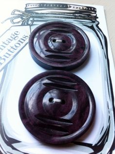 Vintage Carded set of 2 Large Art Deco DEEP by bonkersaboutbuttons, £4.00