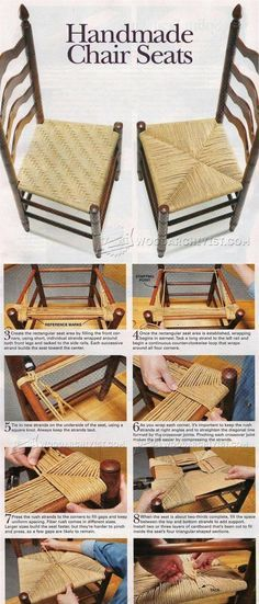 Handmade Splint and Rush Seat - Woodworking Tips and Techniques   WoodArchivist.com