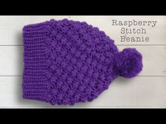 RASPBERRY OR TRINITY STITCH BEANIE HAT - Part One - YouTube