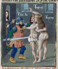 Demetrius and Arsinoe-----Giovanni Boccaccio, translated by Laurent de Premierfait. De casibus virorum illustrium in French translation (Des cas des ruynes des nobles hommes et femmes) OriginNetherlands, S. (Bruges) Datec. 1479-c.1480