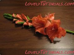 Gladiola gumpaste flower tutorial
