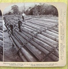 turn of the century logging oregon - Google Search Lumber Mill, Wood Lumber, Old Pictures, Old Photos, Northwest Usa, Tugboats, Steam Boats, Logging Equipment, The Ancient One
