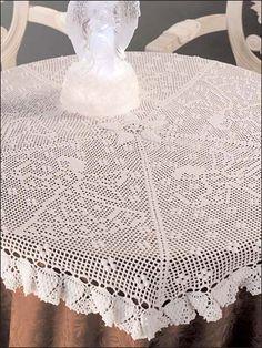 Crochet Pattern - Pineapple & Angels Table Topper