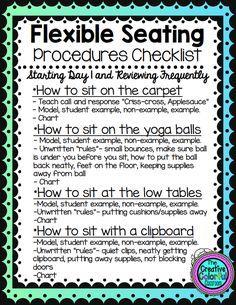 Flexible Seating Procedures Checklist