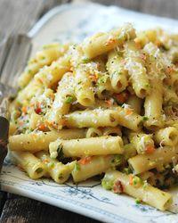 Rigatoni with Asparagus-Pistachio Pesto // More Spring Pastas: http://www.foodandwine.com/slideshows/spring-pastas #foodandwine