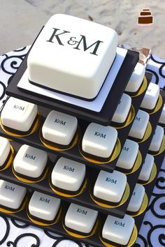 Monogram Wedding Mini Cakes   @Lori Darnell