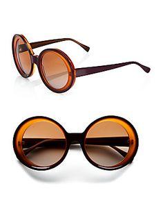 888e2319501 Marni - Oversized Two-Tone Round Plastic Sunglasses