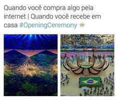 Cerimônia de abertura: Copa do Mundo x Olimpíadas