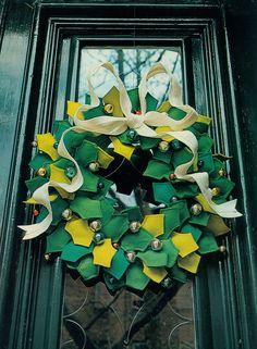 felt wreath #idea #christmas #cute #diy