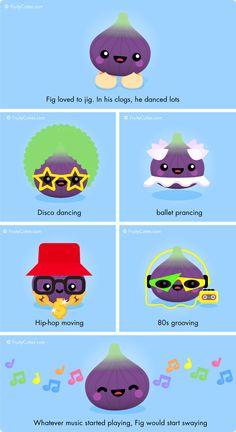 Fig Jig - Cute jokes with Kawaii Fruit and Vegetable cartoons