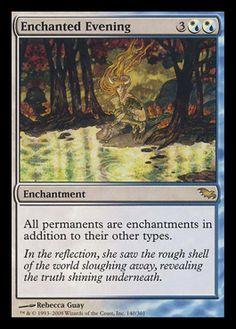 MtG Enchanted Evening - Shadowmoor - NM near mint Magic the Gathering card Mtg Altered Art, Mtg Decks, Mtg Art, Enchanted Evening, Magic The Gathering Cards, Magic Cards, Flesh And Blood, Play, Homestuck