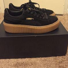 4e54b5ebb1cb35 Shop Women s Puma Black size 6 Sneakers at a discounted price at Poshmark.  Description  Sold out Rihanna puma creeper.
