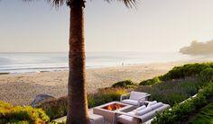 Beachside patio in Santa Barbara