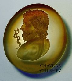 Asclepius god of healing hand-carved intaglio by Chavdar Chushev.  #intaglio #gem #intagliogem #chalcedony #sard #gemcarving #seal #sigillo #cameo #gemengraving #lapidary #jewelry #jewellery #classicalgreek #glyptic  #ringstone #antiquejewellery #ancientjewelry #ancientjewellery #antiquejewellery #handcrafted #goldsmith #глиптика #asclepius #luxurygifts #mythology  #sealring  #ancientgreekart