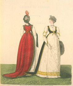 Gallery of Fashions Day Dresses http://oldrags.tumblr.com/post/5917955965/day-dresses-1790s-united-kingdom-gallery-of