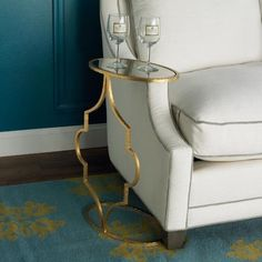Petite Arabesque Oval Side Table  side tables and accent tables side table for chair by bar cart