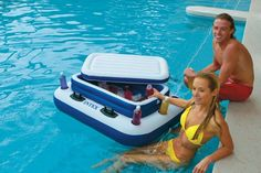 """#58821EP - 48""""x38"""" - 16 ga vinyl - Removable ice chest - Holds up to 72 cans plus ice - Use as a floating base for a cooler up to 48 qts - 6 cup holders - 4 heavy duty handles - 3 air chambers - Repai"""