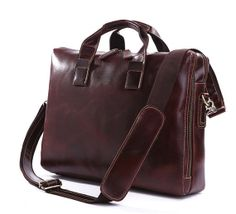 Handcrafted Leather Briefcase / Messenger / by LeatherFashionshop, $129.00