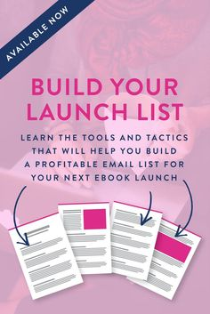 Learn the tools and tactics that will help you build a profitable email list for your next ebook launch! Click to enroll for FREE for a limited time! This course will make building your email list easy!