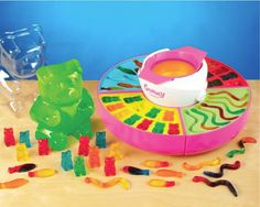 Nostalgia Electrics Gummy Candy Maker: Make your own gummy bear and worm candy at home! Tween Girl Gifts, Gifts For Girls, Tween Girls, Best Gifts For Kids, Girls Toys, 11th Birthday, Birthday Gifts, Gummy Bear Candy, Homemade Sweets