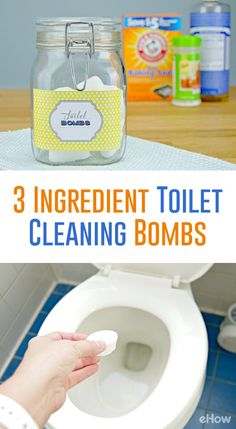 3 Ingredient Toilet Cleaning Bombs The chore no one wants to do is no super easy! This 3 ingredient homemade toilet bowl cleaner is so easy to make with just a few things you.