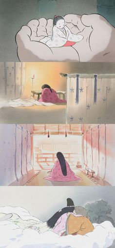 Kaguya-hime no Monogatari (The Tale of Princess Kaguya), 2013(dir. Isao Takahata)By quello-nello-specchio