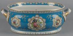 Limoges painted Porcelain foot bath.