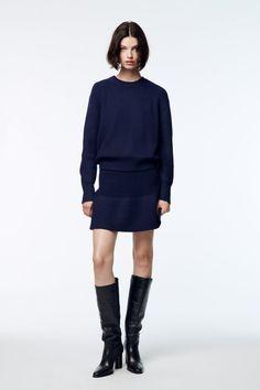 Gray Skirt, Zara United States, Bleu Marine, Long Sweaters, Pull, Long Sleeve Sweater, High Waisted Skirt, Gray Color, Mini Skirts