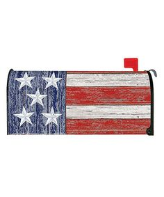 Loving this Rustic Patriotic Mailbox Cover on #zulily! #zulilyfinds