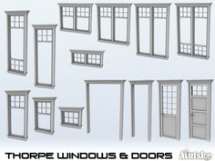 Need to redo you sims home? You want some nice new windows and matching doors? Then this new line is what your Simmies need for there old house. You can make a nice makeover with these windows and...