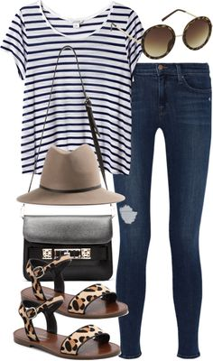 outfit for a summer vacation by im-emma featuring a breton shirt