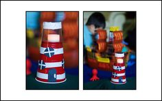 we did the lighthouse craft from family fun magazine. super fun! #kid #craft #familyfun
