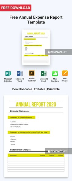 Free Company Expense Report Microsoft word and Template