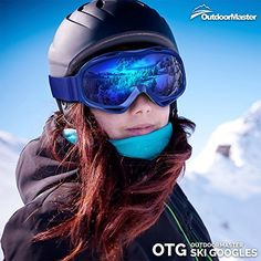 OutdoorMaster Mirrored OTG Ski Goggles - Affordable Over Glasses Snow Goggles for Men, Women & Youth - 100% UV Protection  OTG SKI GOGGLES FOR MEN & WOMEN: Unisex Snow Goggles for Men, Women & Youth that can be worn over prescription glasses. Designed with affordability and versatility in mind, these goggles gives you unmatched bang for your buck.  EXCELLENT OPTICAL CLARITY & 100% UV PROTECTION: Featuring a dual layer lens with mirrored appearance and anti-fog coating, these goggles provides…