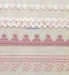 ergahandmade: Crochet Edgings + Diagrams