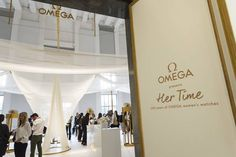 """#NicoleKidman officially opens #Omega's """"Her Time"""" #exhibition in Milan"""