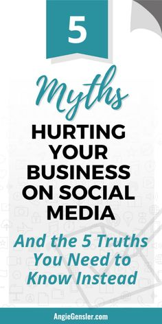 5 Social Media Myths That are Hurting Your Business (And the 5 Truths You Need to Know Instead). 5 Social Media Myths That are Hurting Your Business (And the 5 Truths You Need to Know Instead). Facebook Marketing, Online Marketing, Social Media Marketing, Content Marketing, Marketing Tools, Small Business Marketing, Business Tips, Online Business, Digital Marketing Strategy